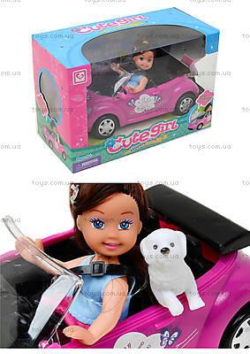 Детская кукла с машиной и собачкой, K899-14