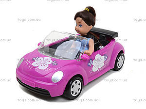 Детская кукла с машиной и собачкой, K899-14, игрушки