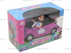 Детская кукла с машиной и собачкой, K899-14, детские игрушки