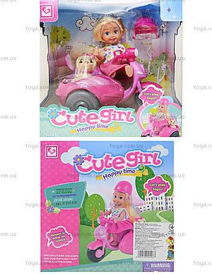 Кукла с мотоциклом и собачкой, K899-15