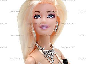 Кукла с набором платьев и аксессуарами, 338B, купить