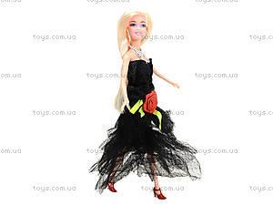 Кукла с набором платьев и аксессуарами, 338B, игрушки