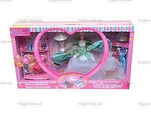 Кукла, с нарядами и мебелью, 88966, детские игрушки