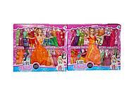 Кукла с нарядами (в оранжевом), 8638B-1, фото