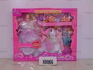 Кукла, с одеждой и сумочками, 89066