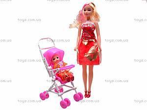 Кукла с ребёнком в коляске, B10
