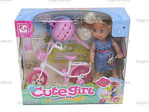 Детская кукла с велосипедом, K899-25, купить