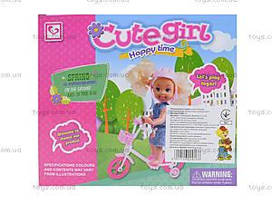 Детская кукла с велосипедом, K899-25, фото