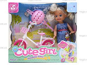 Детская кукла с велосипедом, K899-25