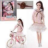 """Кукла """"Emily"""" на велосипеде, 29 см, QJ077, магазин игрушек"""