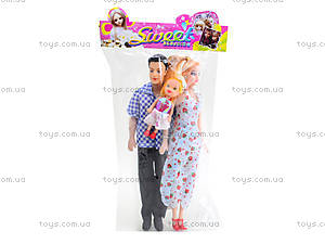 Детский набор кукол «Семья», 3912C, игрушки