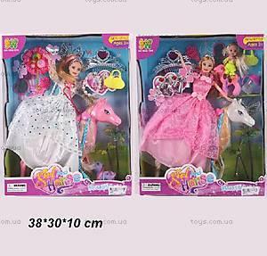 Кукла типа Барби с дочкой и лошадкой, 6688-1/2