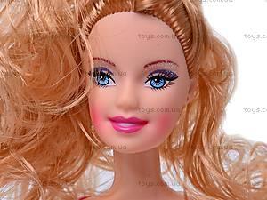 Кукла типа Барби с гардеробом, 6688-C, отзывы