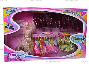 Кукла типа «Барби», с одежкой, 1988-8, детские игрушки