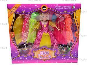 Кукла типа «Барби» с платьями, 66399, детские игрушки