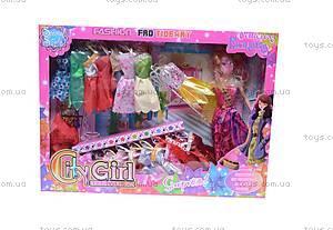Кукла типа «Барби», с вечерними платьями, 9998C-3, игрушки