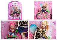 Кукла типа Барби на велосипеде, 2 вида, 6030P(1640166), отзывы