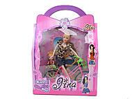 Кукла типа Барби на велосипеде, 2 вида, 6030P(1640166), фото