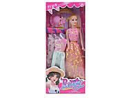 Кукла типа «Барби», с шляпкой, 9314D, отзывы