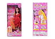 Кукла типа Барби беременная, с одеждой, 0308A, купити