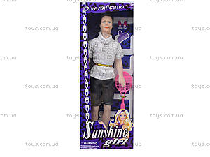 Кукла типа Барби-Кен, 2 вида с ракеткой, ZHQ11-C, купить