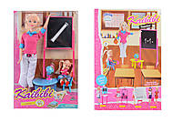 Кукла-учитель с аксессуарами, BLD130, купить