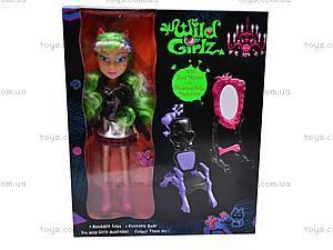 Кукла-вампир с аксессуарами, 301023/1-6, детские игрушки
