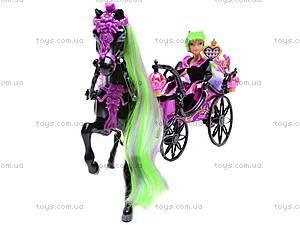 Кукла-вампир, с каретой и лошадью, 301046/1-3, фото
