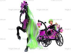 Кукла-вампир, с каретой и лошадью, 301046/1-3