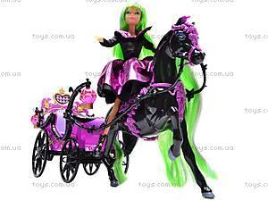 Кукла-вампир, с каретой и лошадью, 301046/1-3, цена