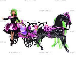 Кукла-вампир, с каретой и лошадью, 301046/1-3, детские игрушки