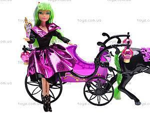 Кукла-вампир, с каретой и лошадью, 301046/1-3, магазин игрушек