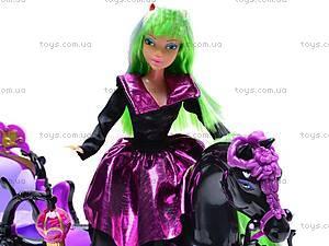Кукла-вампир, с каретой и лошадью, 301046/1-3, toys.com.ua