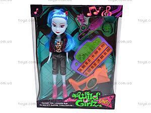 Кукла-вампир, с музыкальным инструментом, 301021/1-6, цена
