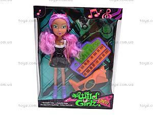 Кукла-вампир, с музыкальным инструментом, 301021/1-6, игрушки