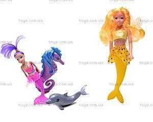 Куклы-русалочки с дельфином и морским коньком, 080083