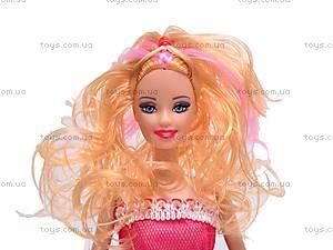 Куколка детская с гардеробом, 988A3, фото