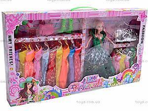Куколка с набором платьев, 6688-A, цена