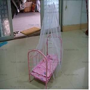 Кукольная кроватка, металлическая, 9352L