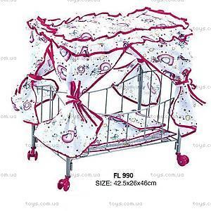 Кукольная кроватка, с балдахином, FL990