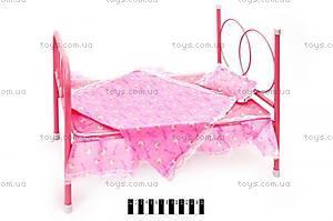 Кукольная кроватка, с покрывалом, 881-1