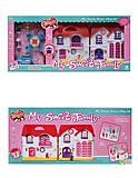 Игрушечный кукольный дом с фигурками и мебелью, 1003F-G, фото