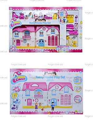 Кукольный дом с куклами, мебелью, эффектами, 1201AC