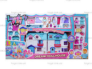 Кукольный домик с мебелью и с куклами, 1205