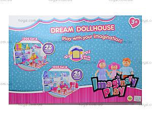 Детский музыкальный кукольный дом с куклами, 1205A1205B, купить