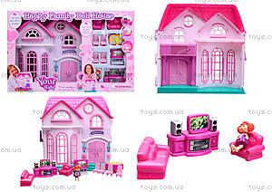 Музыкальный кукольный дом с мебелью, 16670