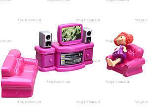 Музыкальный кукольный дом с мебелью, 16670, детские игрушки