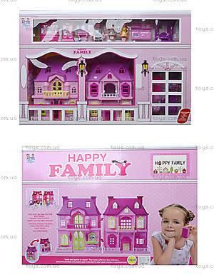 Кукольный дом с куклами и мебелью, в коробке, 221, фото