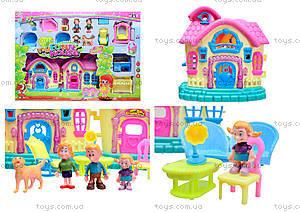 Кукольный дом с куклами и мебелью, 39213921-1