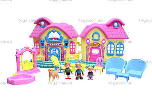 Кукольный дом с куклами и мебелью, 39213921-1, toys